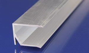 Alu U Abschlussprofil 10 Mm Silber Mit Tropfnase 1050 Mm Lang