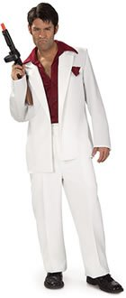 Scarface Adult Costume (Mens Mafia Costume)
