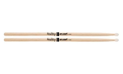 Promark TX420N American Hickory Mike Portnoy Autograph Series Nylon Tip, Single Pair