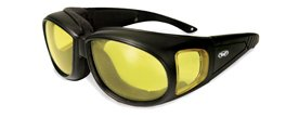 Global Vision Outfitter Motorcycle Glasses, Anti Fog, Yellow Tint Lens, Matte Black Frame (Best Tint For Prescription Sunglasses)