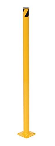 Vestil BOL-36-2 Yellow Powder Coat Pipe Safety Bollard, Steel, 1-3/4