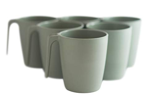 Natura Green- Bamboo Mugs- Set of 6-13 oz (390 ml) each -