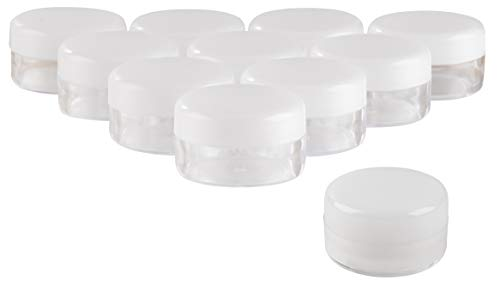 Lip Balm Containers - 100-Pack Empty Lotion Containers with Lids, 3ml, Great for Cosmetics, Creams, Craft Materials, 5 ml ()