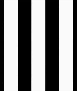 Black/White Medium Stripe Matte Satin Fabric - By the Yard