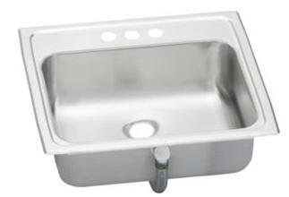 Elkay PSLVR1917 Asana Commercial Lavatory Sink with Overflow Assembly, Top Mount, Single Bowl, 19
