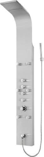 "Blue Ocean 64.5"" Stainless Steel SPS8879 Shower Panel with Rainfall Shower Head, Body Nozzles, and Handheld Shower Head"