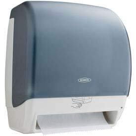(Bobrick Washroom Equipment B-72974 Plastic Automatic Roll Towel Dispenser - Translucent - Smoke & Gray)