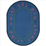 (Joy Carpets Kid Essentials Early Childhood Oval Montessori Alphabet Rug, Multicolored, 5'4