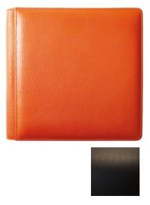 SANTA FE Black smooth-grain leather #106 scrapbook album by Raika - 12x12 by Raika®