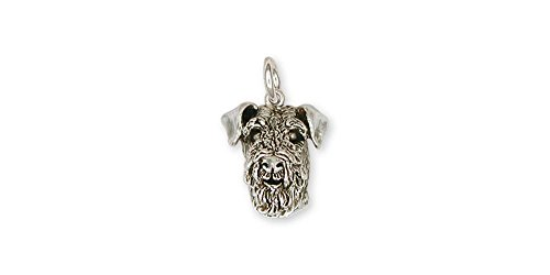 Airedale Terrier Jewelry Sterling Silver Airedale Terrier Charm Handmade Dog Jewelry AR5-C
