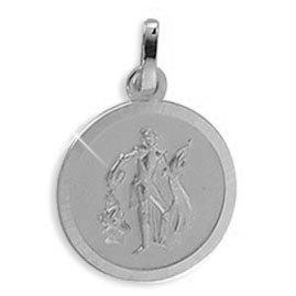 Echt Gold/Silber Heiliger Florian Medaille Patron der Feuerwehr 18mm (213336) GRATIS-SOFORT-GRAVUR Viennagold 213133
