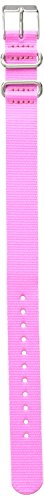 Timex TW7C23200 Weekender Color Rush 16mm Pink Nylon Strap (Timex Watch Strap 16mm)