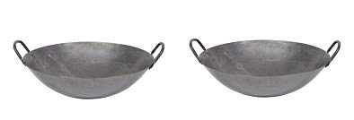 Town Food Service 16 Inch Steel Cantonese Style Wok (2-(Pack))