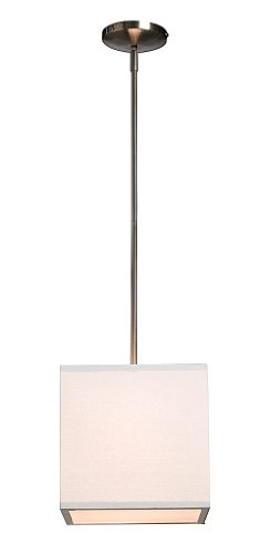 Artcraft Lighting Mercer Street Drum Shade Light, White with White Linen Shade