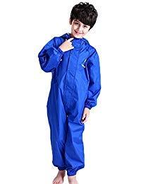 Kids Raincoat Ponchos Overall Rainsuit Boys and Girls Rain Gear,2-14 -