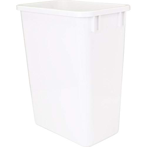 Hardware Resources CAN-35W Plastic Waste Container, White