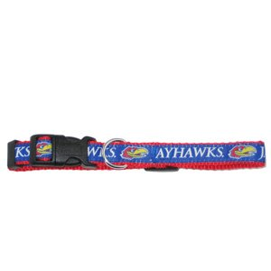 Mirage Pet Products Kansas Jayhawks Collar for Dogs and Cats, Large