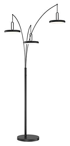 Lite Source Sailee Black 3-Light LED Arc Floor Lamp