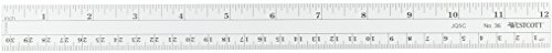 Westcott No. 36 Metric Ruler 12 Inch / 30 Cm