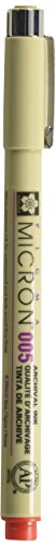 Sakura Pigma Micron Pens- 005/0.20mm Red Inkquantity 6 Pens Per Order Bulk Buy