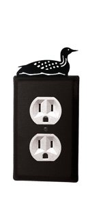 Village Wrought Iron Switchplate - 8 Inch Loon Single Outlet Cover