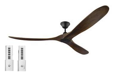 Monte Carlo 3MAVR70BK Maverick 70 Inch Ceiling Fan in Matte Black with Dark Walnut Blades, Two Remote Controls Included