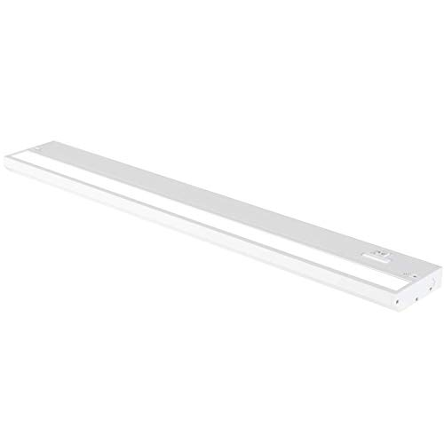 24 Inch White LED Under Cabinet Lighting – Dimmable -3 Color Temperature Slide Switch – Warm White (2700K), Soft White…