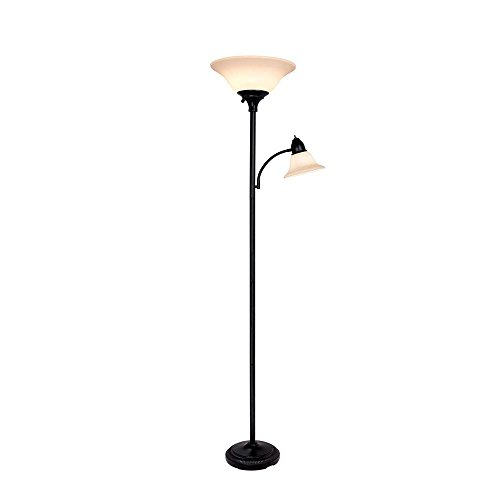 Hampton Bay 71 in. Black Floor Lamp by Hampton Bay (Image #1)