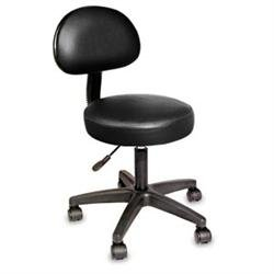 NRG ROLLNG STOOL W/REMOVABLE BACKREST BURGUNDY-Great for Spa, Salons and Massage Therapists