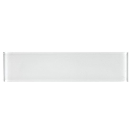 3''x12'' White Crystal Glass Subway Tile for Kitchen Bathroom Shower Spa Wall (Box of 5 sq ft $79)