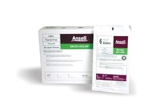 Ansell 5795004 Encore Acclaim Powder-Free Latex Surgical Glove, Size 7-1/2 (Pack of 200)