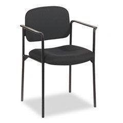 BSXVL616VA10-21 - basyx VL616 Series Stacking Guest Chair with Arms - Each - Basyx Stacking Chair