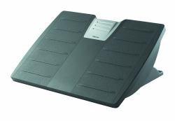Adjustable Locking Footrest with Microban, Black/Silver ()