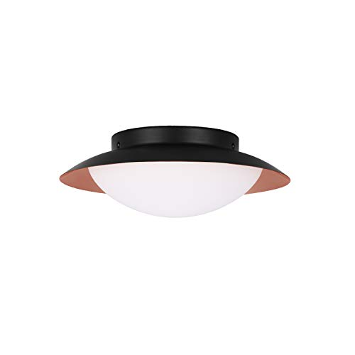 GetInLight LED Flush Mount Ceiling Light, 12-Inch, 15W(75W Equivalent), Copper Finish, 3000K(Soft White), Dimmable, Round, Wet Location Rated, ETL Listed, IN-0318-1-CP-30