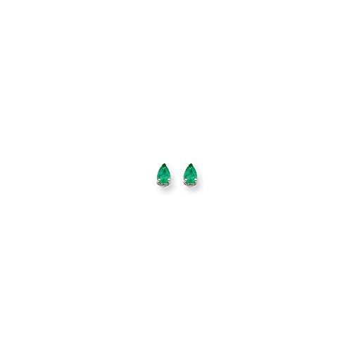 14k White Gold 6x4 Pear Earring Mountings