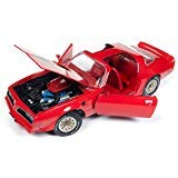 - 1977 Pontiac Firebird Trans Am Buccaneer Red Limited Edition to 1,002 Pieces Worldwide 1/18 Diecast Model Car by Autoworld AMM1160