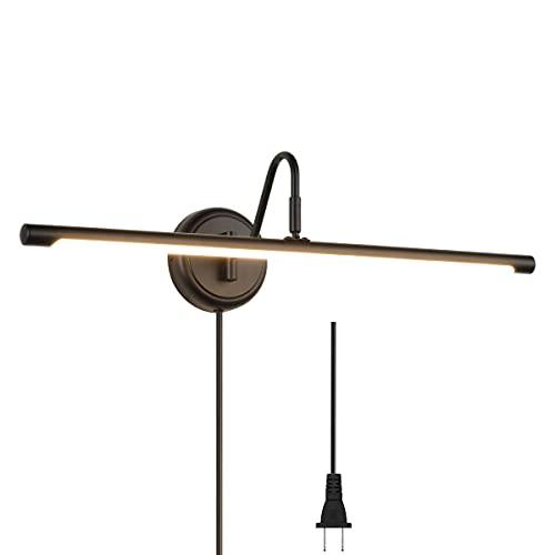 ECOBRT Modern LED Picture Light Fixtures Black Full Metal Artwork Display Light Fixture 24.4