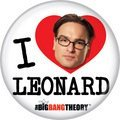 The Big Bang Theory I HEART LEONARD Small Badge Button 1 inch Button