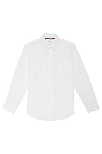 French Toast Little Boys' Toddler Long Sleeve Poplin Dress Shirt, White, 2T