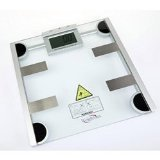 "All-In-One Body Weight Scale (glass top) (13""H x 13""W x 3""D)"