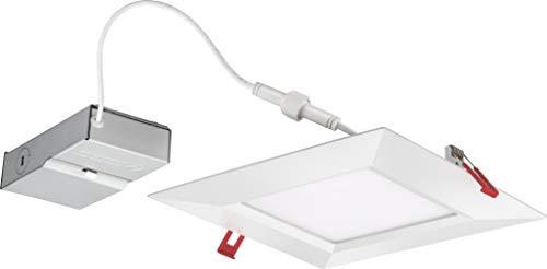 Lithonia Lighting WF8 SQ S 40K MVOLT 90CRI MW M6 LED Multi-Volt Ultra Thin Recessed Downlight, 4000K, White