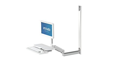 Enovate Medical - Enovate e997 Height Adjustable Computer Wall Arm, 32