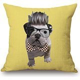 Uloveme Throw Pillow Covers Of Dog 18 X 18 Inches / 45 By 45 Cm,best Fit For Sofa,club,dining Room,drawing Room,saloon,bar Twin Sides (Cover Duvet 42 X 30 X 5)