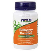Bilberry Complex 50 Caps - Now Foods Bilberry Complex 80mg - 50 Caps 2 Pack