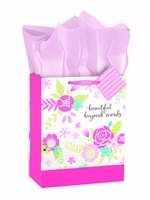 Dayspring Cards 72725 Gift Bag-Specialty-Beautiful Beyond Words-Medium