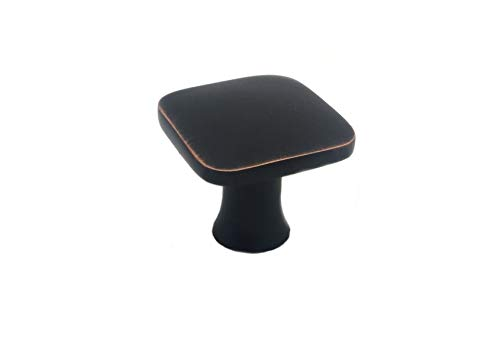 - Colester Direct Kitchen Cabinet Hardware Drawer Knob Square (25, Oil Rubbed Bronze)