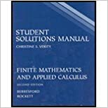 Student Solutions Manual: Used with ...Berresford-Finite Mathematics and Applied Calculus