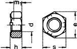 (100 pcs) Metric DIN 980V M12X1.75 All Metal Prevailing Torque Lock Nut Class 10 Steel