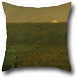 Pillow Shams 18 X 18 Inches / 45 By 45 Cm(twin Sides) Nice Choice For Sofa,dining Room,gril Friend,bar,kitchen,wife Oil Painting George Fuller - Moonrise