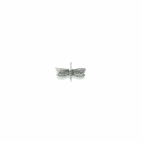 Shipwreck Beads Pewter Dragonfly Wings Bead, Silver, 6 by 21mm, 4-Piece